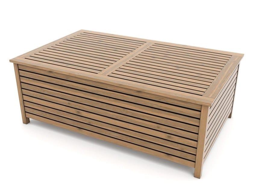 Tavolino basso in abete con vano contenitore ANDROMEDA   Tavolino by Zuri Design