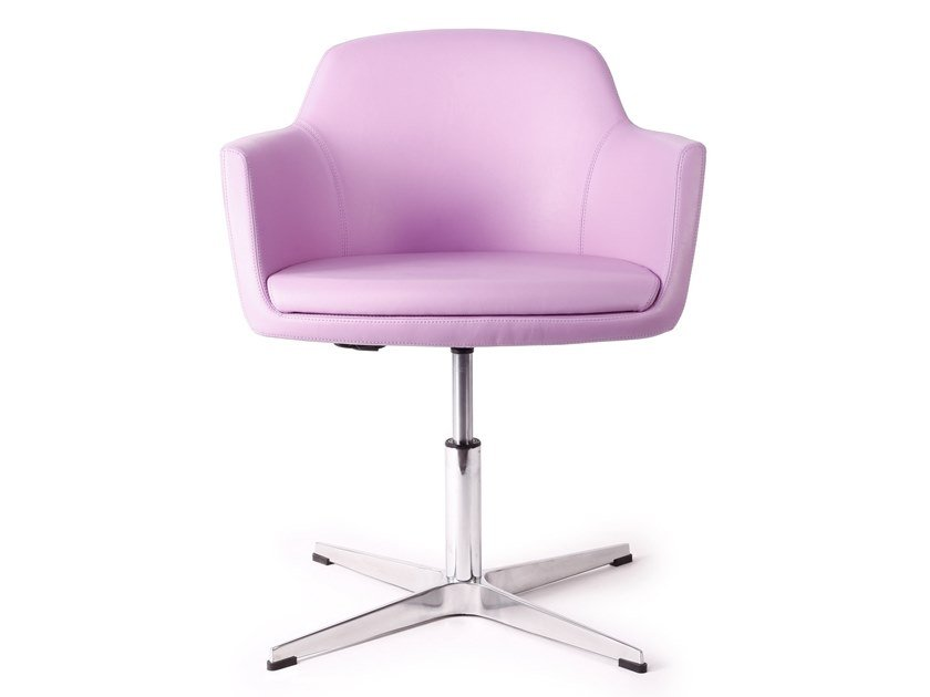 Chair with 4-spoke base with armrests ANEMONE by CUF Milano