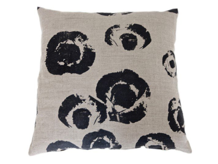 Square linen cushion ANEMONE | Cushion by Birgit Morgenstern Studios