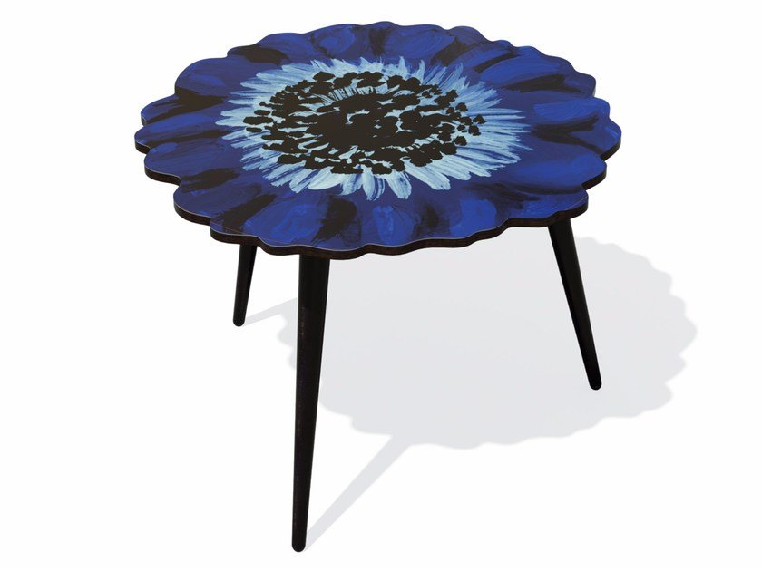 Beech wood and HPL coffee table ANEMONE L by Bazartherapy