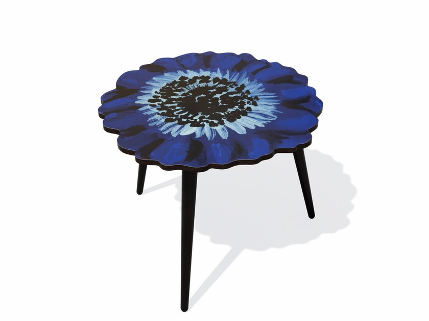 Beech wood and HPL side table ANEMONE M by Bazartherapy
