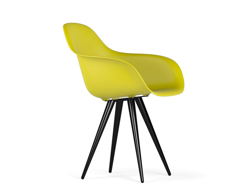 Polypropylene chair with armrests ANGEL CONTRACT V9 | Chair with armrests by KUBIKOFF