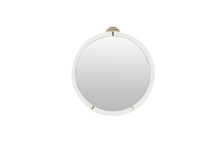 Round framed wall-mounted mirror ANGEL | Mirror by Enza Home