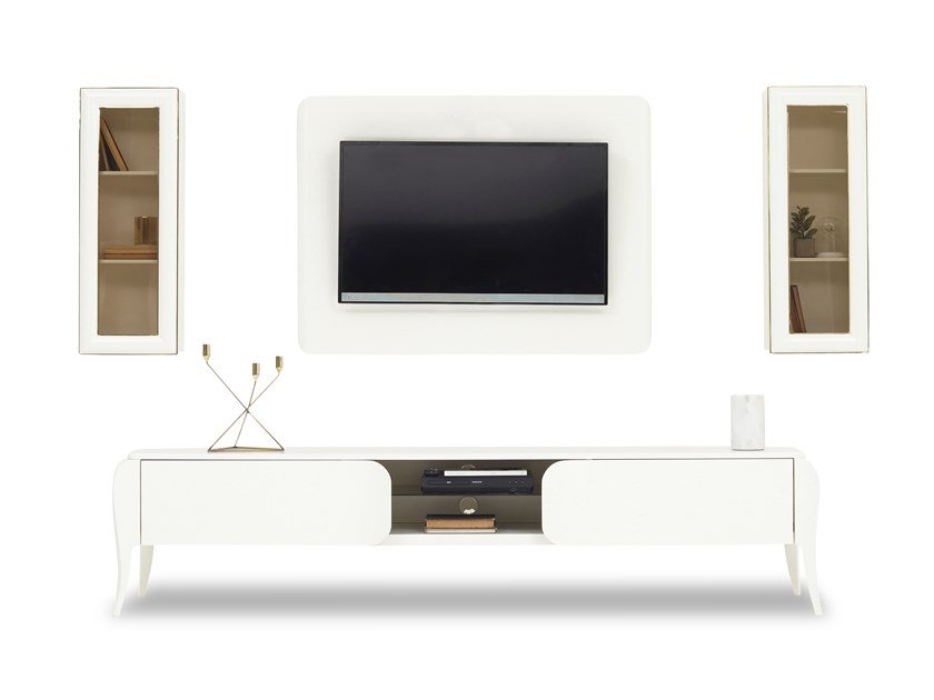 MDF TV wall system ANGEL | Storage wall by Enza Home