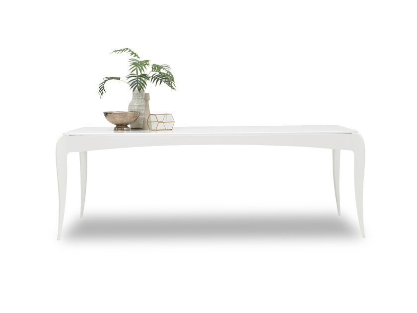 Lacquered rectangular MDF table ANGEL | Table by Enza Home