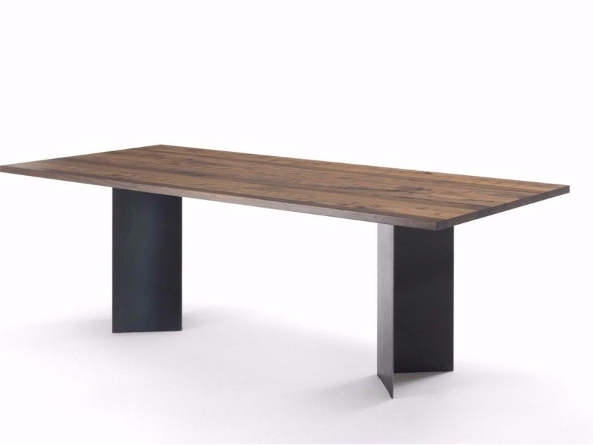 Rectangular solid wood table ANGLE by Riva 1920