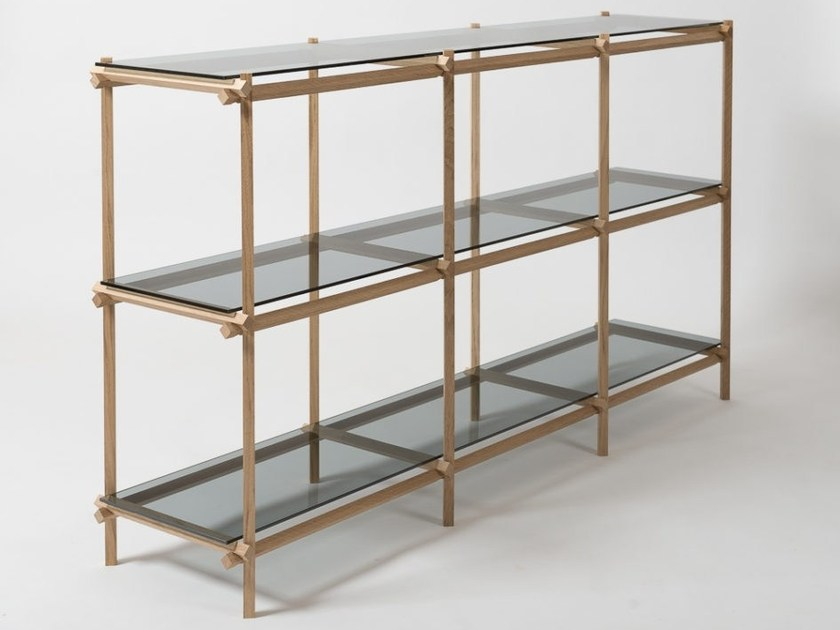 Double-sided modular shelving unit ANGLED CABINET by Vij5