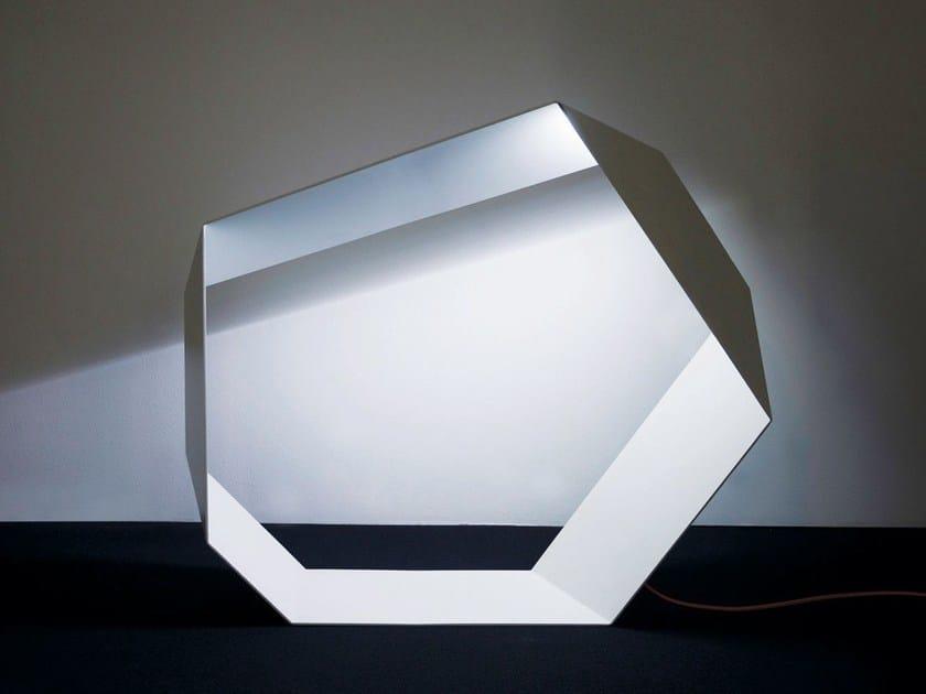 LED aluminium floor lamp with dimmer ANGOLO | LED floor lamp by Sattler