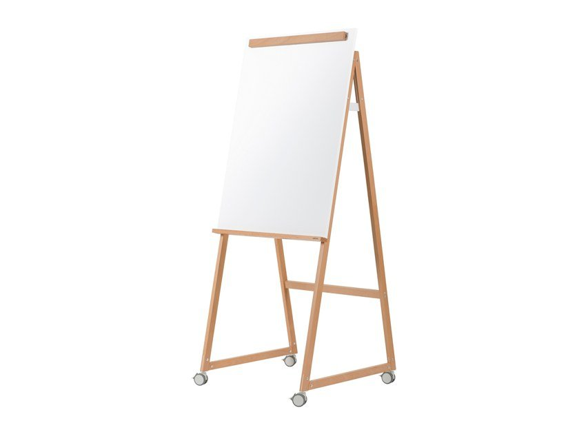 Lacquered steel mobile easel with casters ANGOLO | Office whiteboard by ARCHYI. by Bi-silque