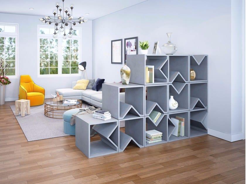Concrete stool / coffee table / bookshelf ANGULUS MUTATIO by CO33