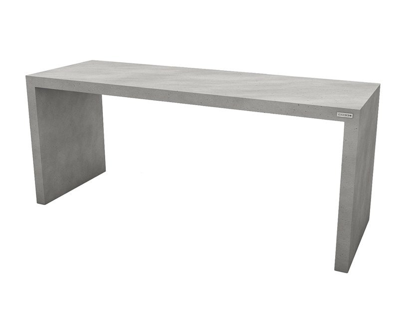Rectangular concrete table ANGULUS TABULA by CO33