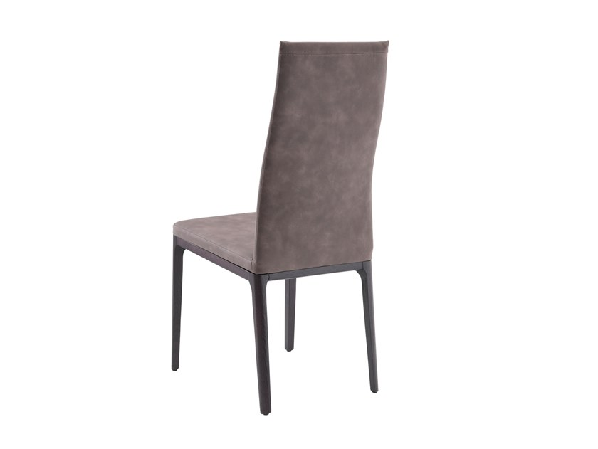 Upholstered leather chair ANGY by RIFLESSI