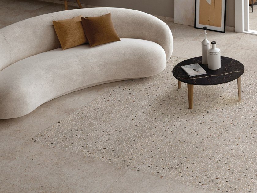 Indoor/outdoor porcelain stoneware wall/floor tiles with stone effect ANIMA by Ariana Ceramica