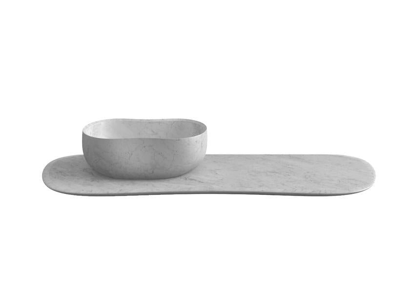 Marble washbasin countertop ANIMA   Washbasin countertop by Salvatori