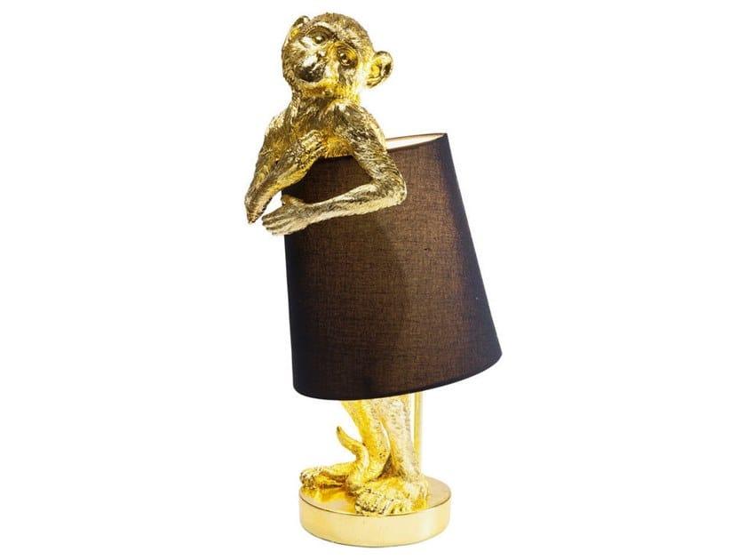 LED table lamp ANIMAL MONKEY GOLD BLACK | Table lamp by KARE-DESIGN