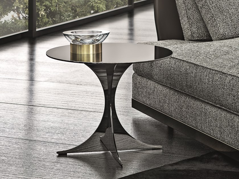 Anish Metallo Stile Minotti Tavolino Moderno Rotondo In WIEYDbe29H