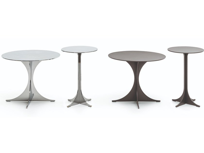 Contemporary style round metal coffee table ANISH by Minotti