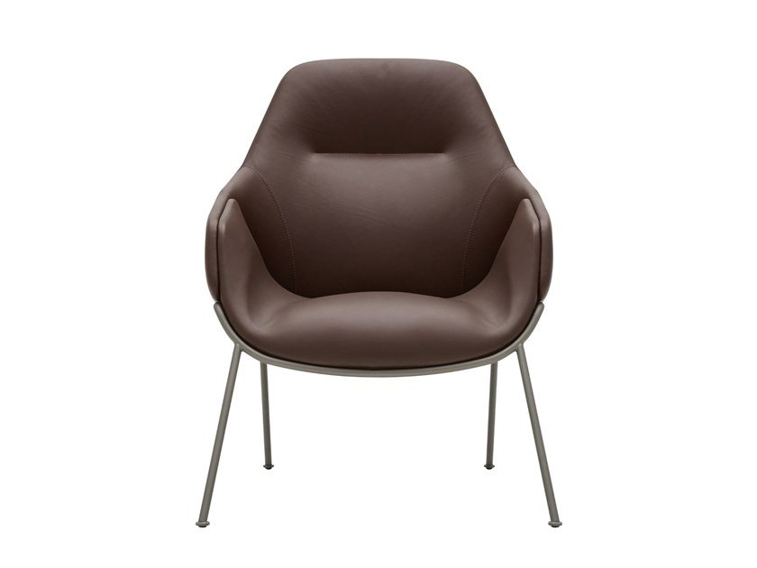 High-back leather armchair ANITA | High-back armchair by SP01