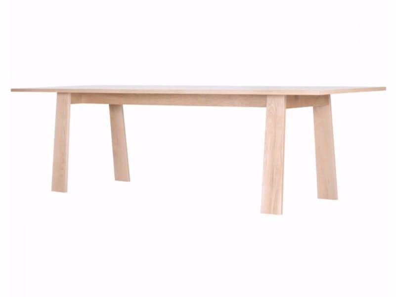 Rectangular oak dining table ANNA by ASPLUND