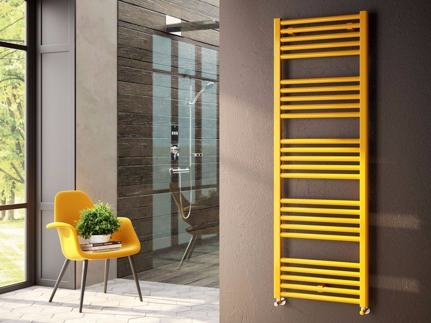 Hot-water carbon steel towel warmer ANNA by CORDIVARI