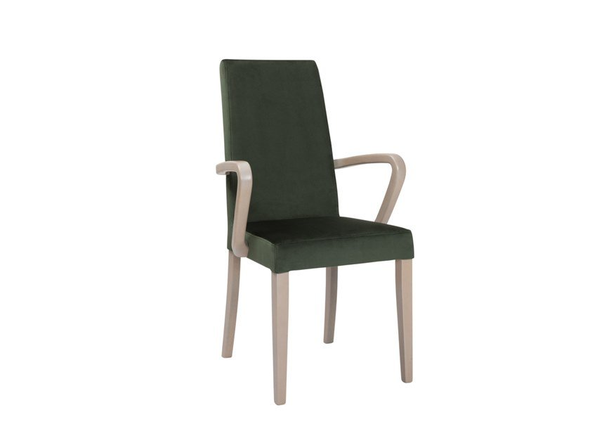 Upholstered high-back chair with armrests ANNA SB01 by New Life