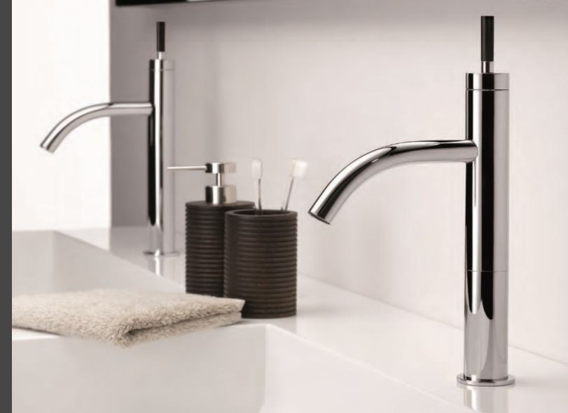 Contemporary style chrome-plated steel bidet mixer with aerator with polished finishing ANOA CORNE NOIRE | Bidet mixer by INTERCONTACT