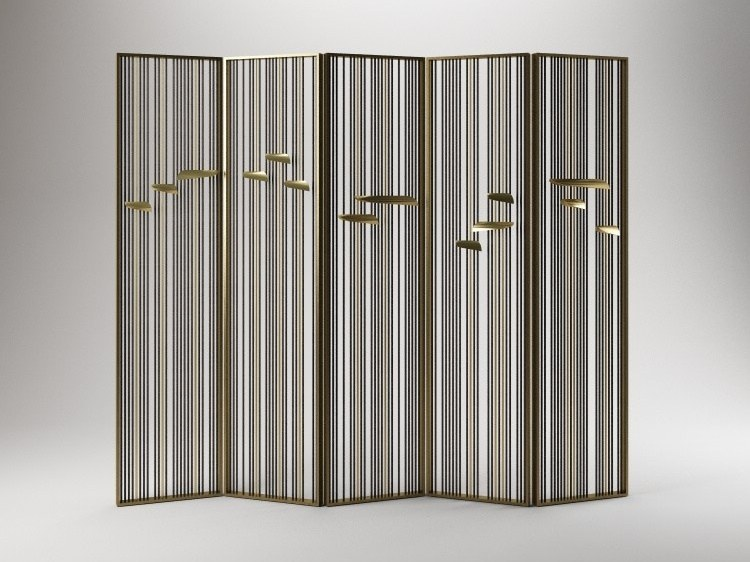Brass Screen ANODINE SCREEN by Paolo Castelli