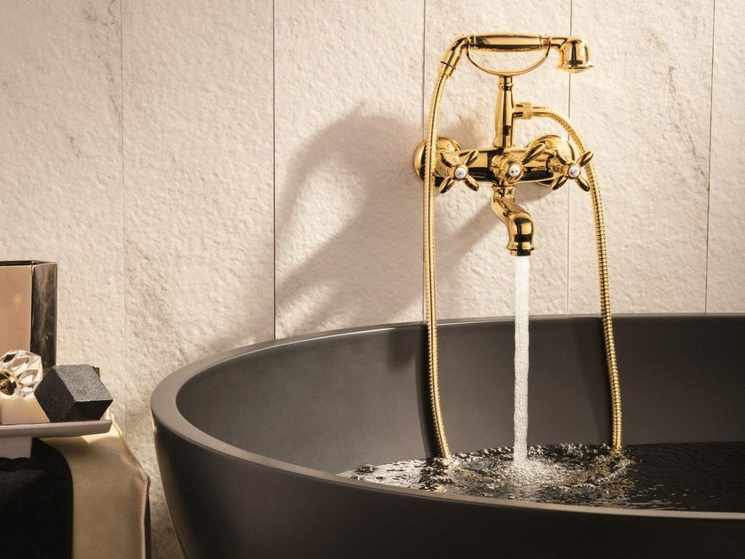 2 hole wall-mounted bathtub tap with diverter ANTEA | Bathtub tap by newform