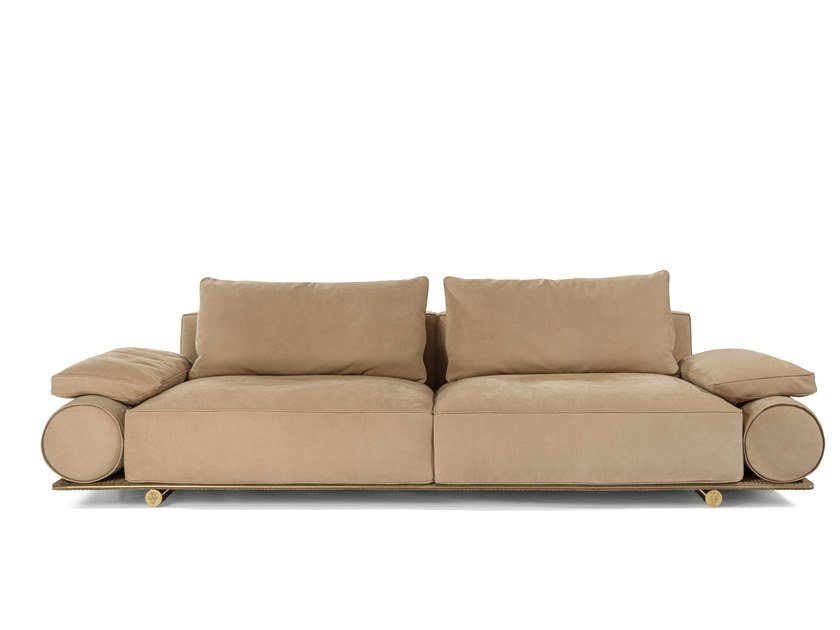 4 seater leather sofa DONOVAN ROLL by Visionnaire