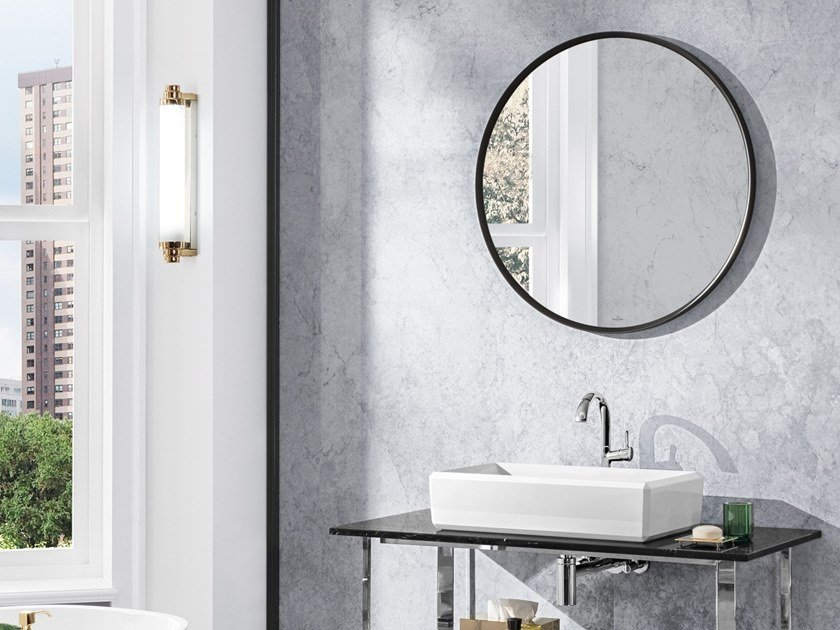 Round framed mirror ANTHEUS | Round mirror by Villeroy & Boch