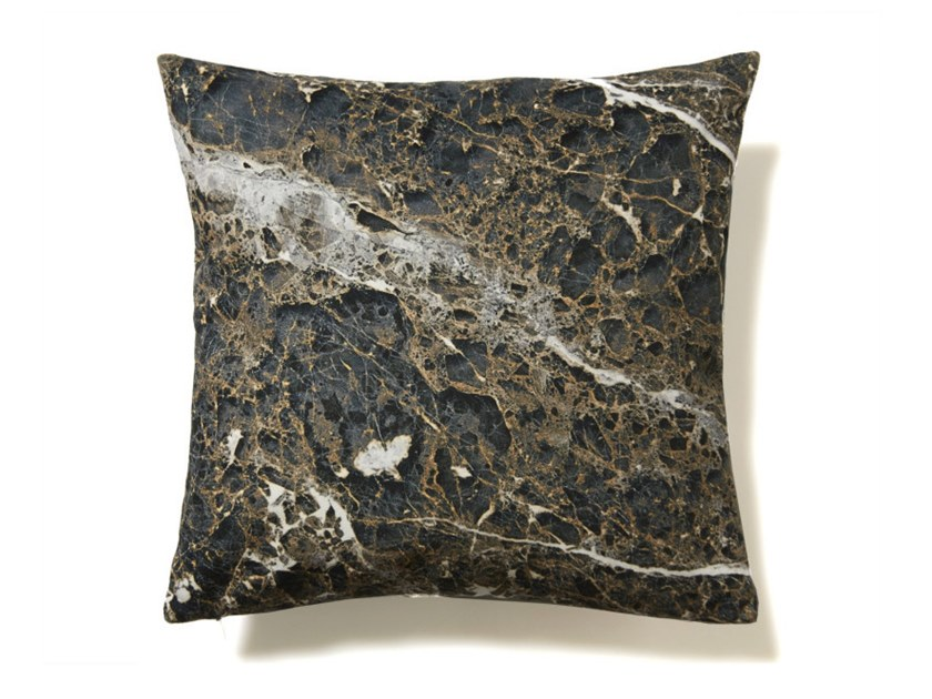 Square polyester cushion ANTHRACITE EMPERADOR | Cushion by Koziel