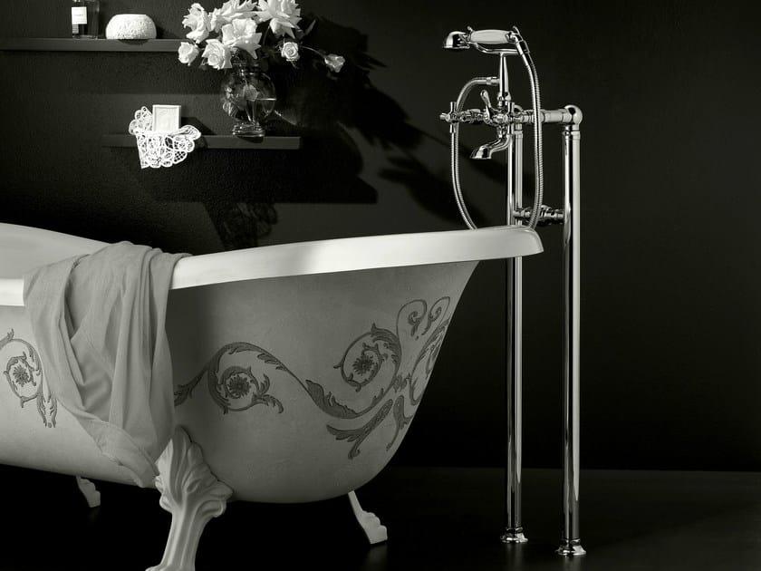 Floor standing bathtub tap with hand shower ANTICA | Floor standing bathtub tap by Signorini
