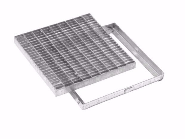 Manhole cover and grille for plumbing and drainage system ANTIHEEL SQUARE GRATING WITH FRAME by Dakota