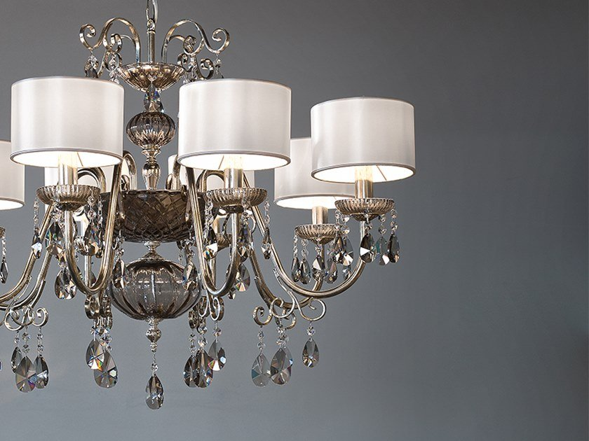 Direct light iron chandelier with crystals ANTIKA 8 by Masiero
