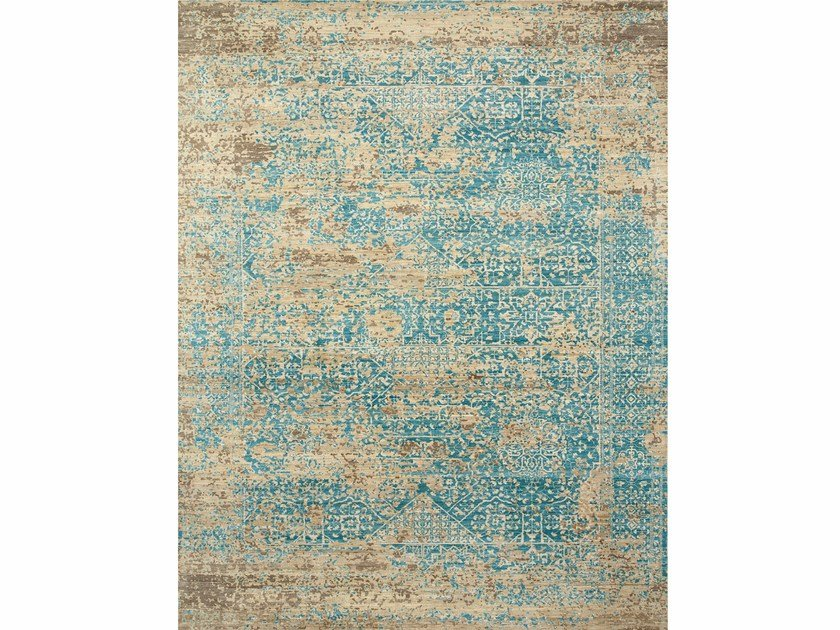 Handmade rug ANTIQUE FILIGREE SPR-712 Caribbean Sea By Jaipur Rugs