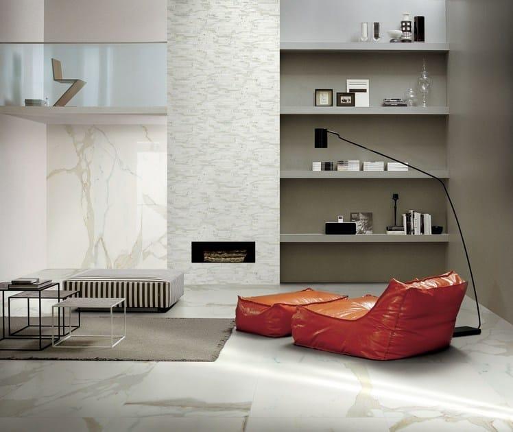 rev tement de sol mur en gr s c rame effet marbre antique. Black Bedroom Furniture Sets. Home Design Ideas