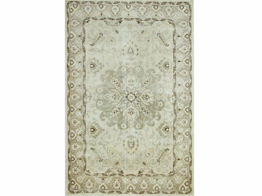 Wool rug ANTIQUE PKWL-6202 Cloud White/SilverGray by Jaipur Rugs