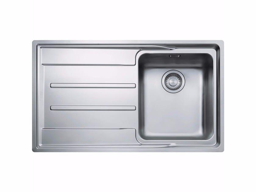 Lavello a una vasca da incasso in acciaio inox con sgocciolatoio ANX 211-86 by FRANKE