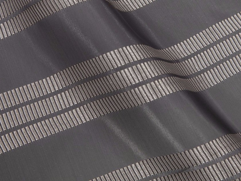 Striped synthetic fibre fabric for curtains AOYAMA by Gancedo