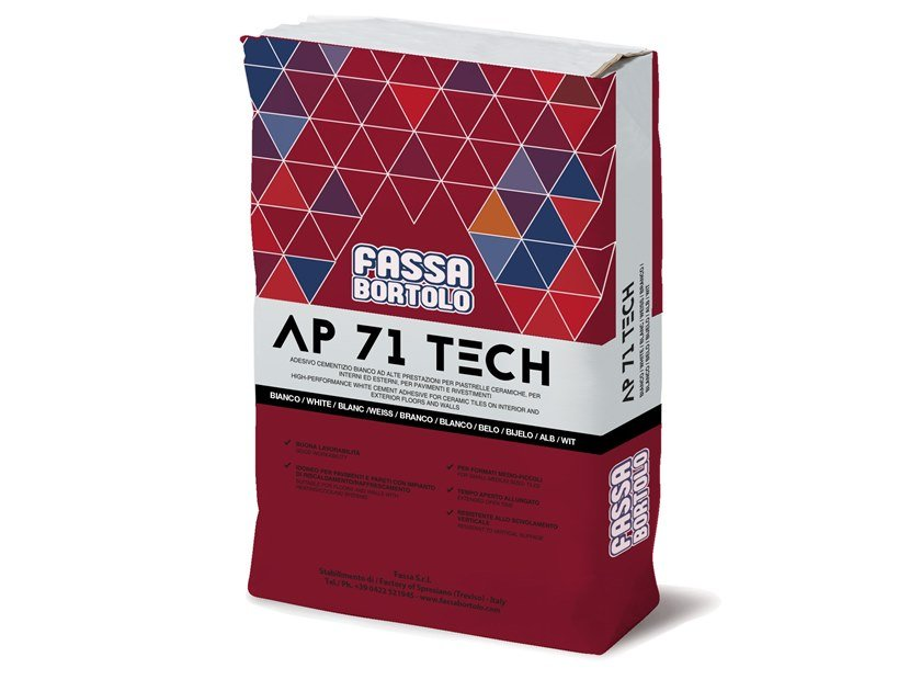 Cement adhesive for flooring AP 71 TECH by FASSA