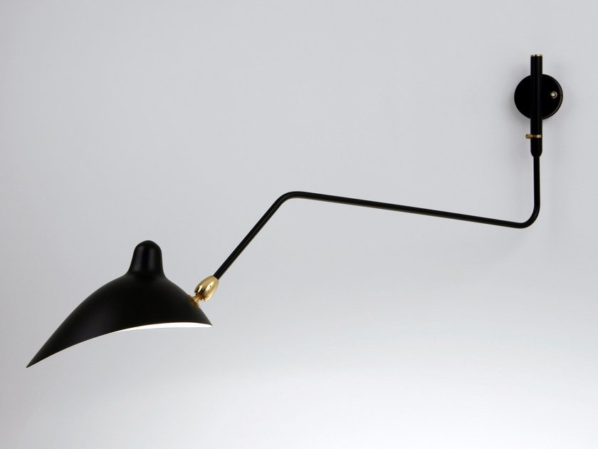 Adjustable metal wall lamp AP1BC | Wall lamp by Serge Mouille