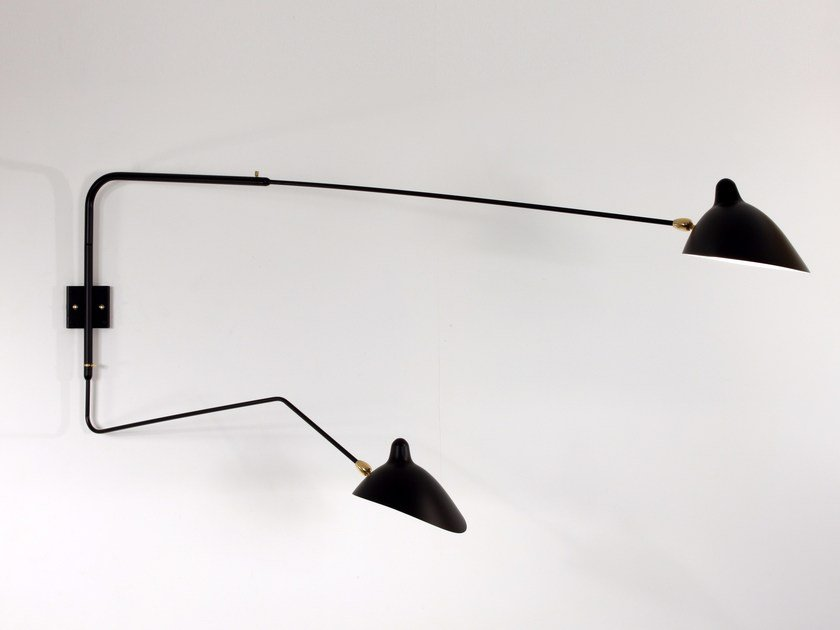 Adjustable metal wall lamp AP2B1C | Wall lamp by Serge Mouille