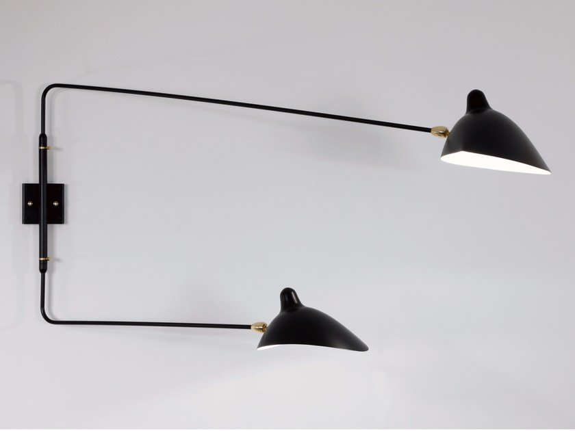 Adjustable metal wall lamp AP2BD | Wall lamp by Serge Mouille