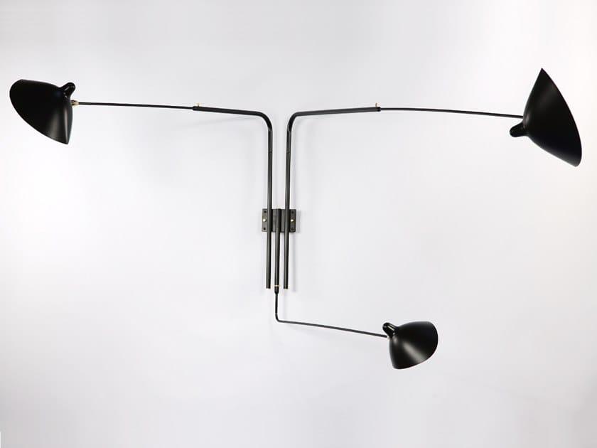 Lampada da parete orientabile in metallo AP3B | Lampada da parete by Serge Mouille