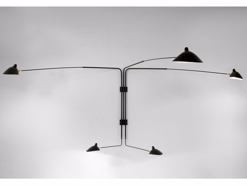 Adjustable metal wall lamp AP5B | Wall lamp by Serge Mouille