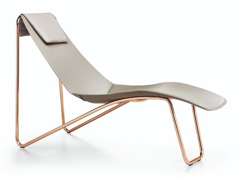 Chaise longue in cuoio APELLE CL by Midj