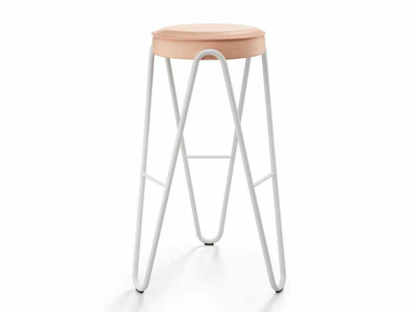 Contemporary style upholstered barstool APELLE JUMP by Midj