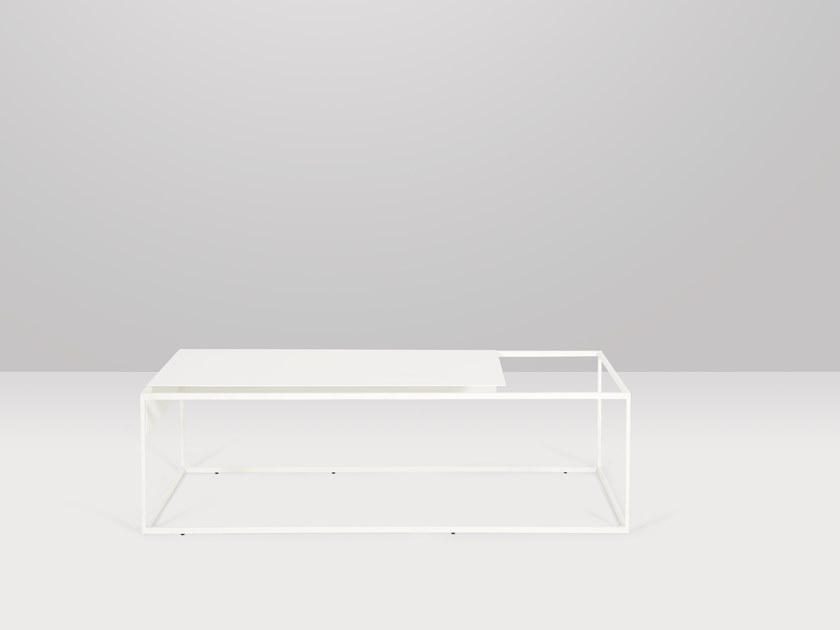 Low rectangular metal coffee table APERO | Rectangular coffee table by Recor Home
