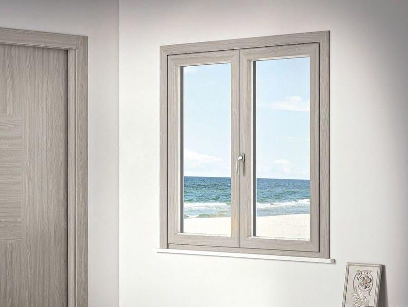 Aluminium and wood window APHRODITE MIMETICA by Pail Serramenti