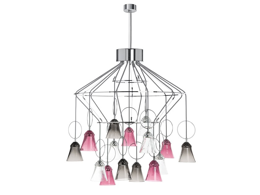 LED direct light chandelier APOLLO | Chandelier by Saint-Louis